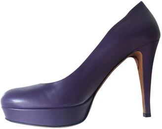 Gucci Purple Leather Heels