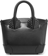 Christian Louboutin Eloise Small Spiked Textured-leather Tote - Black