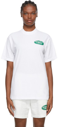 Sporty and Rich White Land Rover Edition Logo T-Shirt