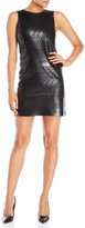 Necessary Objects Laser Cut Faux Leather Front Dress
