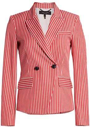 Rag & Bone Fletcher Striped Double-Breasted Blazer