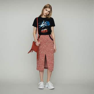 Maje Midi tweed-style skirt