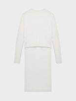 DKNY Ribbed Merino Sweater With Exaggerated Step Hem