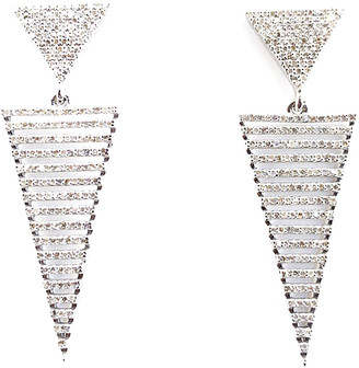 Arthur Marder Fine Jewelry Silver 1.75 Ct. Tw. Diamond Earrings