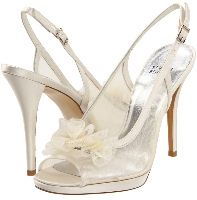 Stuart Weitzman & Evening Collection - Celebrate (Ivory Satin) - Footwear