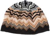 Missoni zigzag knit beanie