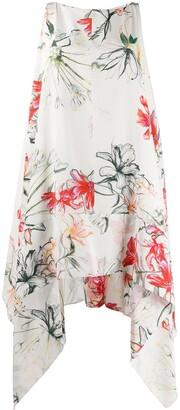 Alexander McQueen Tropical Print Silk Dress