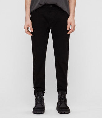 AllSaints Carter Straight Jeans, Jet Black