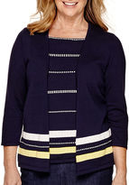 Alfred Dunner Sausalito 3/4-Sleeve Layered Sweater