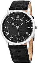 Stuhrling Original Men's 645.03 Classique Swiss Quartz Ultra Slim Black Leather Watch