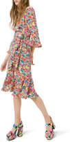 Michael Kors Modern Floral Crepe de Chine Dress
