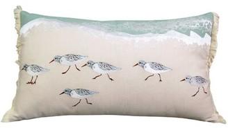 Loren Highland Dunes Sand Piper Sprint Coastal Cotton Lumbar Pillow Highland Dunes