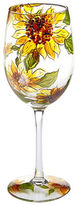 Pier 1 Imports Sunflower Painted Wine Glass