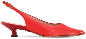 Tod's 35mm Leather Sling Back Pumps