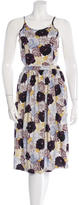 Suno Floral-Print Silk Dress