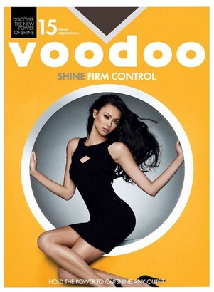Voodoo Shine Firm Control Sheers 15 Denier 1 Pack Nearly Blk