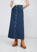 TOMORROWLAND Denim Patching Denim Long Skirt