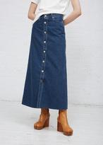 TOMORROWLAND Denim Patching Denim Long Skirt