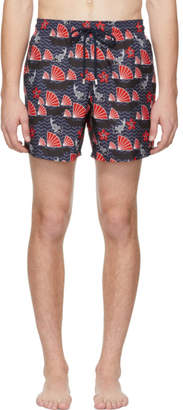 Vilebrequin Blue Hong Kong Mahina Swim Shorts