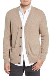 Nordstrom Cashmere Button Front Cardigan