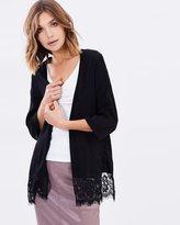 Miss Selfridge Lace Hem Kimono
