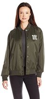 Obey Women's Hooligans Satin Bomber