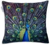 "Madura Royal Peacock Decorative Pillow Cover, 16"" x 16"""