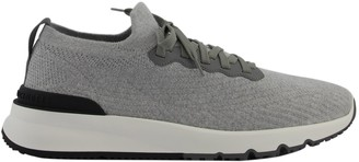Brunello Cucinelli Sneakers Cotton Knit And Semi-polished Calfskin Runners
