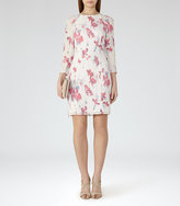 Reiss Kami Printed Long-Sleeved Dress