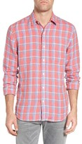 Faherty Men's Ventura Plaid Linen Sport Shirt