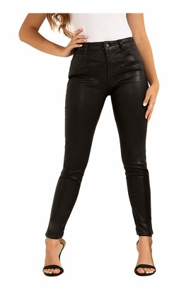 GUESS Women's Metallic Sexy Curve Stretch Mid-Rise Skinny Fit Jean