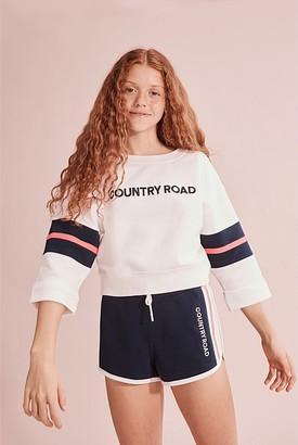 Country Road Teen Crop Logo Sweat