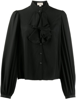 Temperley London Ruffle Trim Puff Sleeved Blouse