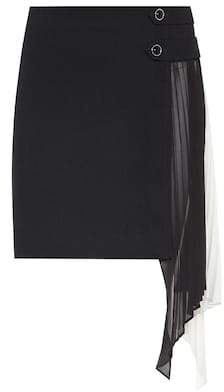 Givenchy Georgette-panelled wool miniskirt