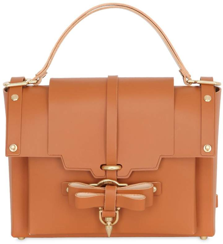 Niels Peeraer Medium Bow Buckle Leather Top Handle Bag