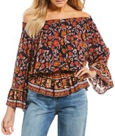 Chelsea & Violet Printed Smock Neck Top