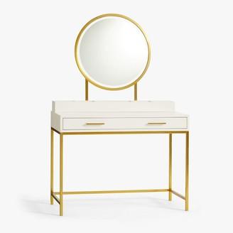 Pottery Barn Teen Blaire Classic Desk & Vanity Mirror Set