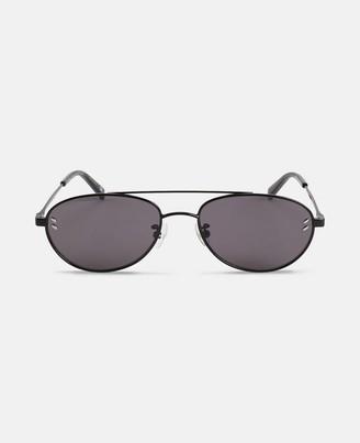 Stella McCartney black aviator sunglasses