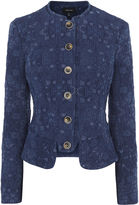 Karen Millen Military Denim Jacquard Jacket
