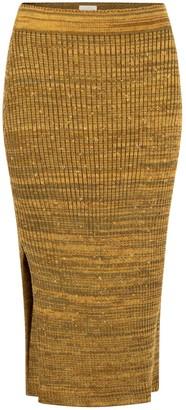 Studio Myr Calf-Length Pencil Skirt With Sparkles Autumn Dew - Sunbeam