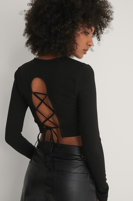 NA-KD Lace Back Detail Top