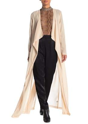 OOBERSWANK Long Sleeve Back Vent Duster Cardigan
