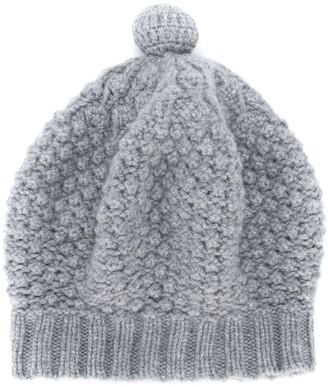 N.Peal Bramble Stitch Cashmere Beret