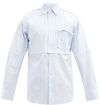 Comme des Garçons Shirt Panelled Cotton-poplin Shirt - Light Blue