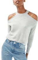 Topshop Women's Cold Shoulder Sweater