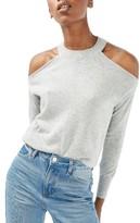 Topshop Women's Cold Shoulder Sweater