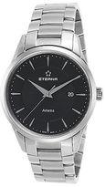 Eterna 2520-41-41-0274 Men's Artena Stainless Steel Black Dial Stainless