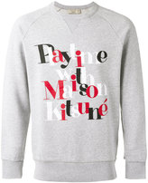 MAISON KITSUNÉ 'playtime' print sweatshirt - men - Cotton - S