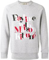 MAISON KITSUNÉ 'playtime' print sweatshirt