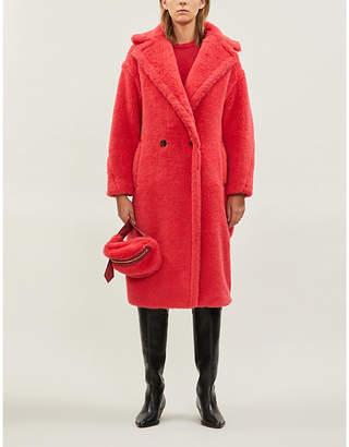 Max Mara Ted Girl notch-lapel wool and silk-blend teddy coat